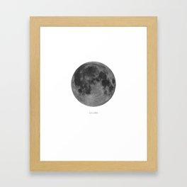 La Luna Moon White Framed Art Print