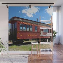 Red Railroad Car - Cumbres And Toltec Wall Mural