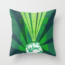 Green Lantern's light Throw Pillow
