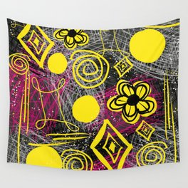 Scribble my thoughts Wall Tapestry