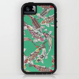 lucky koi green iPhone Case