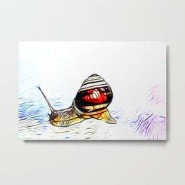 Fractal Snail Metal Print