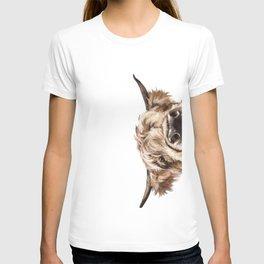 Peeking Highland Cow T-shirt