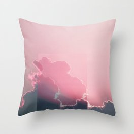 Pink Light Throw Pillow
