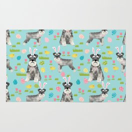 Schnauzer easter costume spring easter bunny pure breed dog pattern gifts Rug