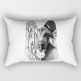 German Shepherd Quote Text Rectangular Pillow