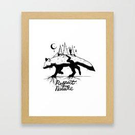 Respect Nature. Framed Art Print