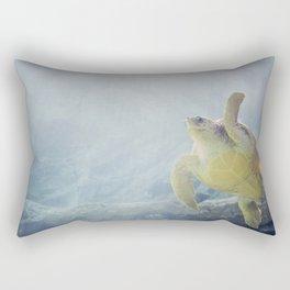 Coasting Turtle Rectangular Pillow