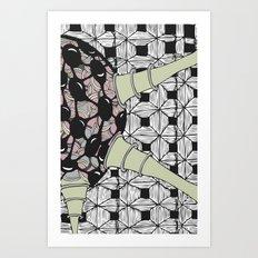 Powder particle Art Print