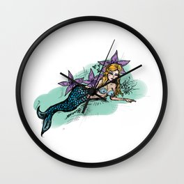Mermaid girl Wall Clock