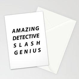 AMAZING DETECTIVE SLASH GENIUS Stationery Cards