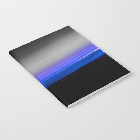 Blue Purple Grey Black Ombre Notebook