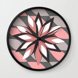 Flower in bloom Wall Clock