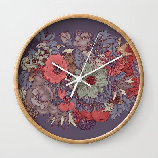 the wild side - dusty tones Wall Clock
