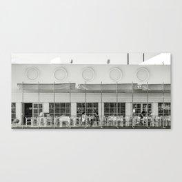 Au café blanc Canvas Print