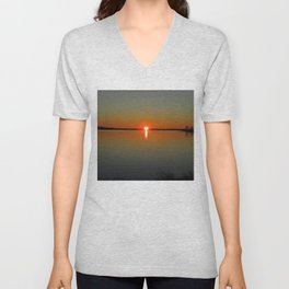 Pregnant Pause of a Downeast Evening Unisex V-Neck