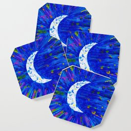 Glitter Crescent Moon Phase Coaster