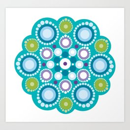 Lotus mandala flower Art Print