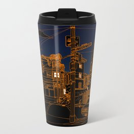 San Francisco! (Night, landscape version) Metal Travel Mug