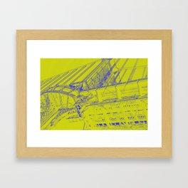 Manhattan Bridge - Green Framed Art Print