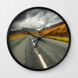 Winding Welsh Road Wall Clock