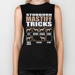 Stubborn Mastiff Tricks design Biker Tank