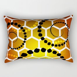 Honeycomb healing Rectangular Pillow