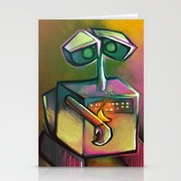 wall e Stationery Cards featuring WALL-E by tidlin