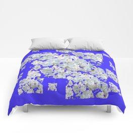 MODERN PURPLE & WHITE LACE FLORAL GARDEN Comforters