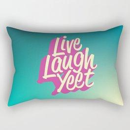 Live Laugh Yeet Rectangular Pillow