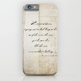 Anna Karenina Quote  As if she were the sun by Leo Tolstoy iPhone Case