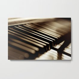 Musician play piano Metal Print