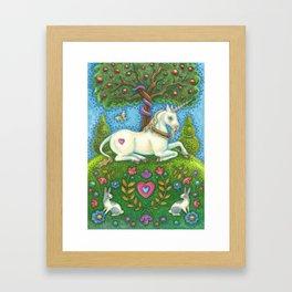 LAND OF EDEN UNICORN - Brack Eve's Garden Framed Art Print