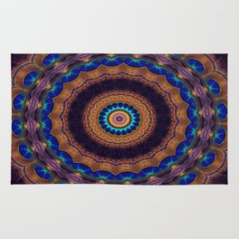Peacock Pinwheel Rug