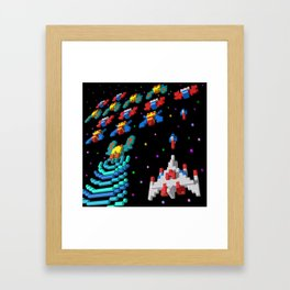 Inside Galaga Framed Art Print