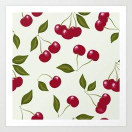 Cherry pattern . No. 1 Art Print