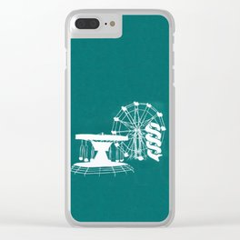 Seaside Fair in Turquoise Clear iPhone Case