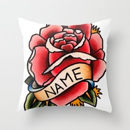 Name Rose Throw Pillow