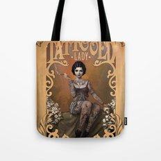 The Amazing Tattooed Lady Tote Bag