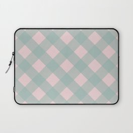 Pink & Mint Checkered Pattern-Mix and Match with Simplicity of Life Laptop Sleeve