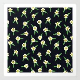 Wildflowers: Cinquefoil Pattern Art Print