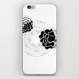 Roses mandala iPhone Skin