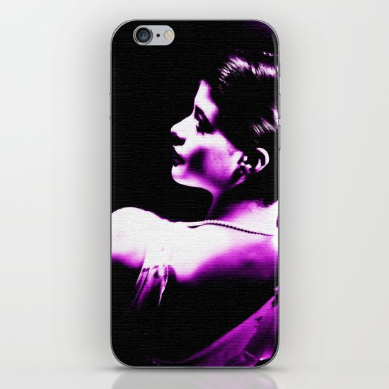 VIOLET WOMAN  iPhone & iPod Skin