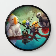 Griffins of a Feather Wall Clock