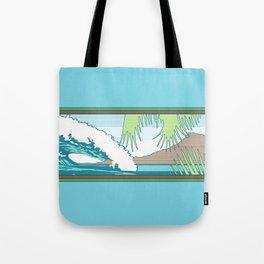 Ala Moana Diamond Head Hawaiian Surf Sign Tote Bag