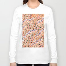 red topography Long Sleeve T-shirt