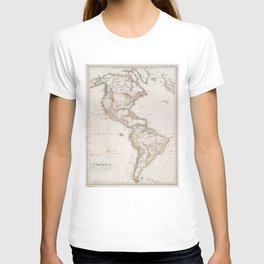 Vintage Map of North and South America (1843) T-shirt