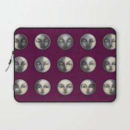 moon phases on dark purple Laptop Sleeve