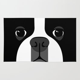 Boston Terrier Close Up Rug