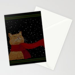 Knitted Wintercat Stationery Cards